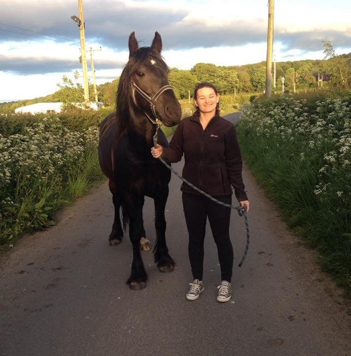 Kate Ellis and horse